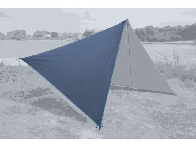 Bent Canvas Plain Bâche de toit Simple, sepia blue/zipper light blue